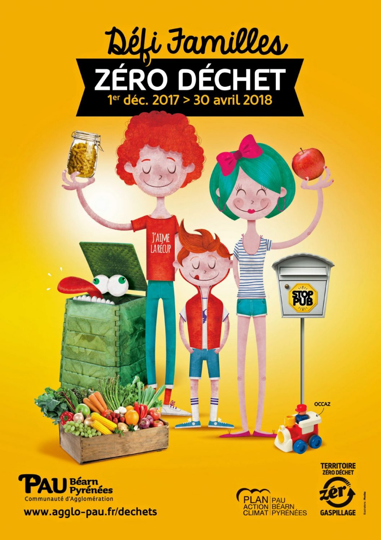 L'affiche du défi Zero déchet de l'agglo Pau Béarn Pyrénées